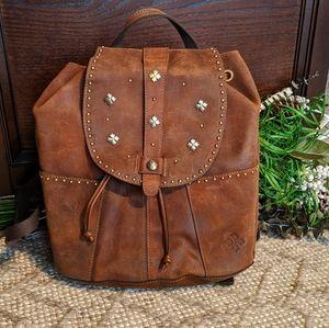 Patricia Nash oil burnished suede backpack
